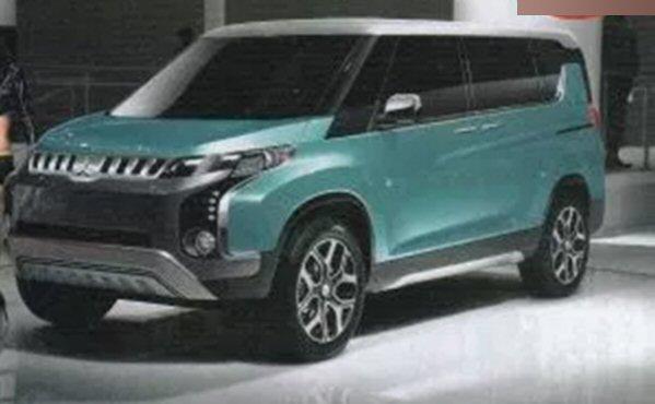 は雑誌の画像にあった新型デリカの予想デザイン。D5のようなタフな雰囲気を残しながら、顔は最近の三菱車のようになっています。